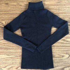 Moda International Black Ribbed Turtleneck Sweater